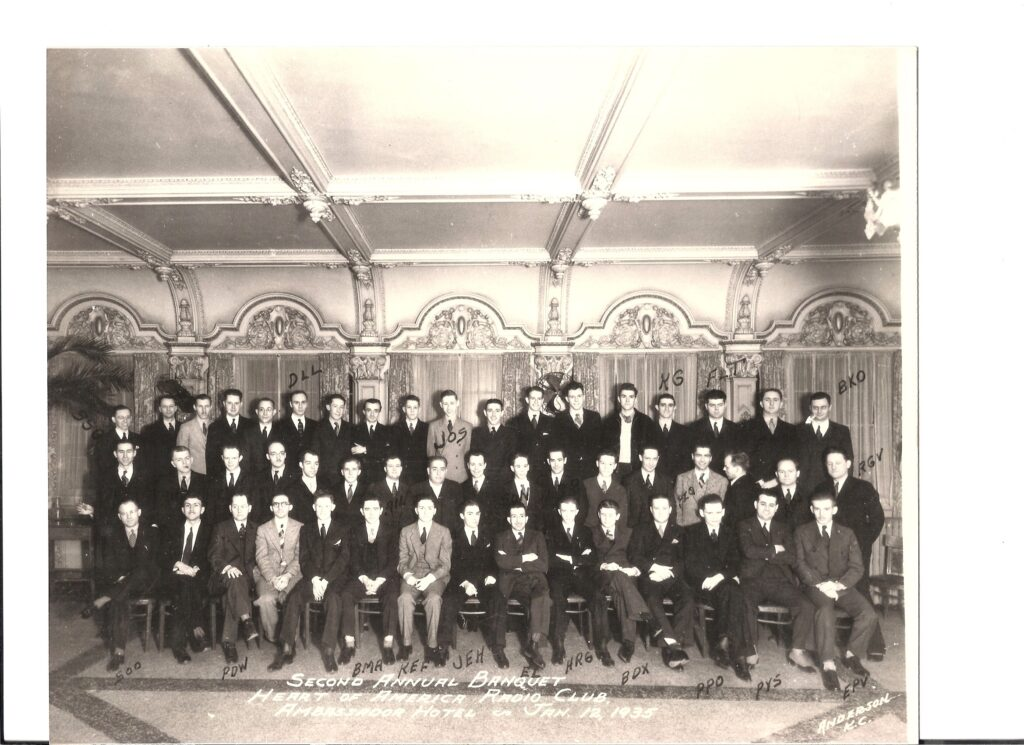 HARC Annual Banquet of 1935 Attendees